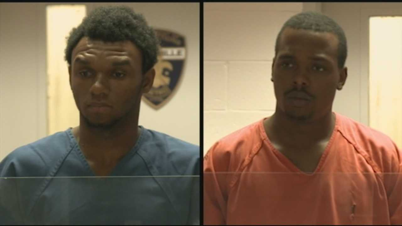 2 men charged with killing 1-year-old, injuring her mother