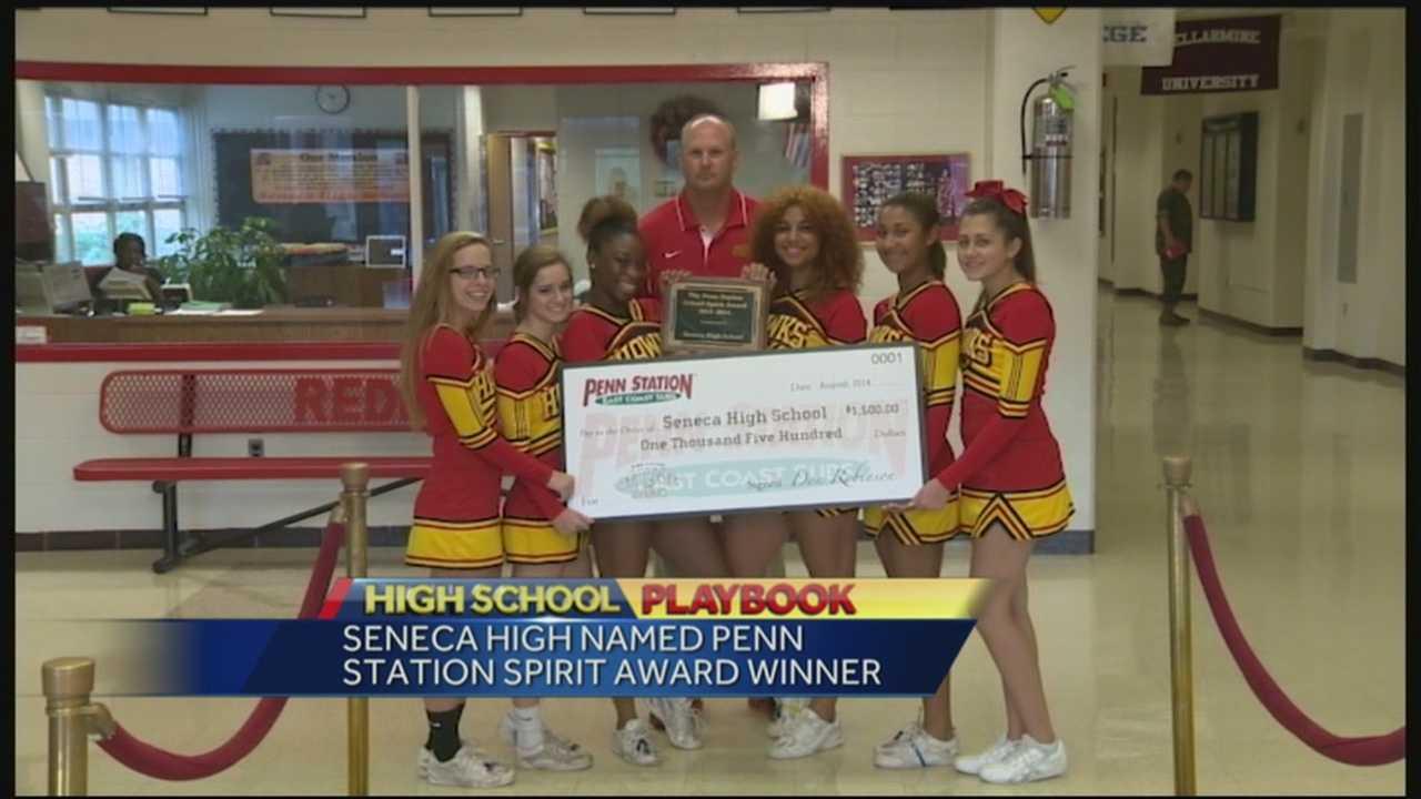 Seneca receives first school spirit from WLKY, Penn Station