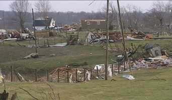 Storm damage in Piner, Ky.