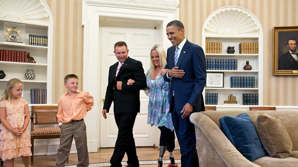 Stephanie Decker meets president