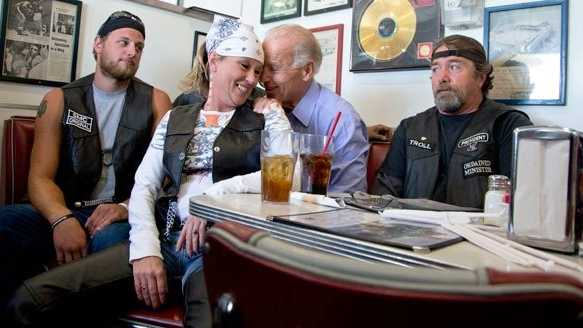 Biden with bikers 1
