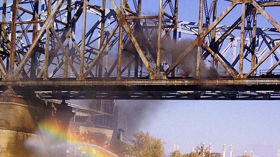 C&O Railroad Bridge fire