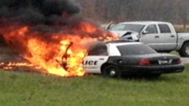 Officers Injured in Aberdeen Crash
