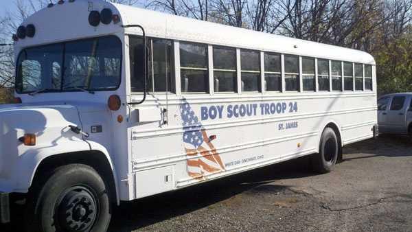 Scout troop bus