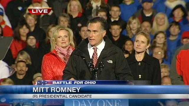 Romney makes case to Ohio voters in final days