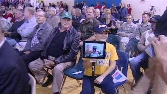 Students at Mason Intermediate School got a chance to thank veterans and hear their experiences ahead of Veterans' Day.