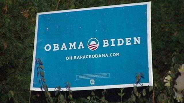 RECYCLING POLITICAL SIGNS
