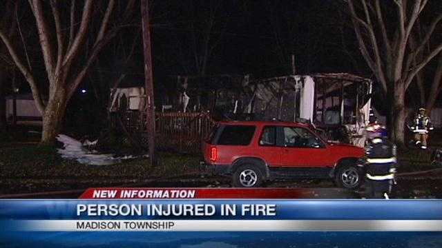 One person was injured in an early morning fire.