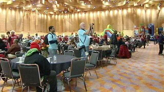 Thousands celebrated the Thanksgiving holiday at the Fall Feast downtown. After months of planning and preparation, it was a day of food, music and fellowship. And volunteers say they get as much out of the day as the people they serve.