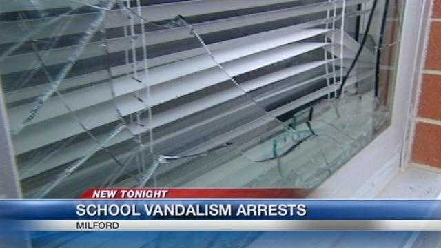 Juveniles accused of vandalizing Milford schools