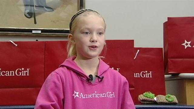 Girl almost halfway to donating 100 American Girl dolls