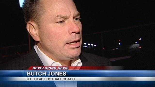 UC Football Coach Butch Jones withdrew from consideration at the University of Colorado but hasn't said if he's staying in Cincinnati.