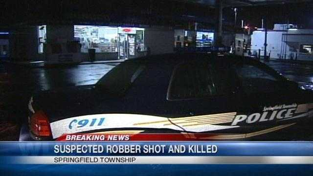 Robbery suspect shot, killed by store clerks