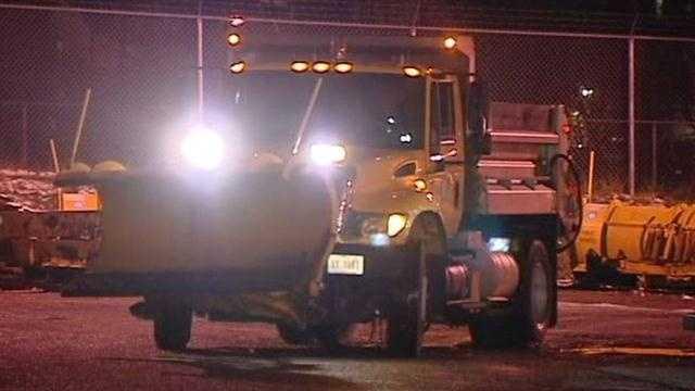 Snow plow night