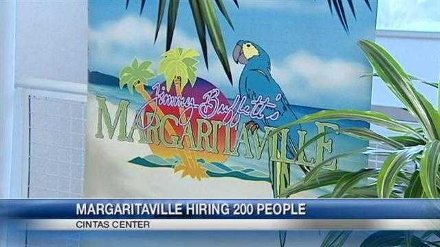 Margaritaville Cincinnati will be conducting a three-day job fair at the Cintas Center at Xavier University.