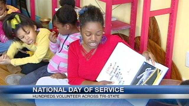 Local volunteers take part in National Day of Service