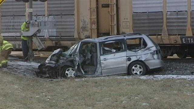 A woman was killed after her vehicle was hit by a train in St. Clair Township. Police identified the victim as Sharon Bennett, 55, of Butler County.