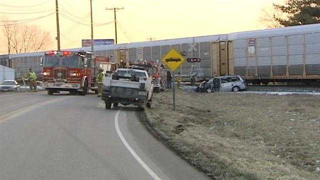A man calls police with concerns about a drivers actions then watches in horror and that driver collides with a train.
