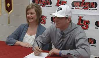 La Salle's John Schwettmann makes his official commitment to play college football for Thomas More College.