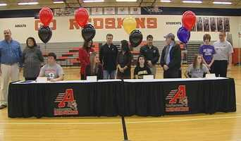 National Signing Day celebration at Anderson.