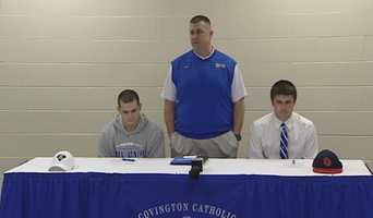 National Signing Day celebration at CovCath.
