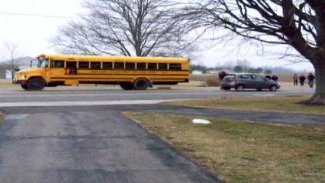 Ind. boy struck, killed by car at school bus stop
