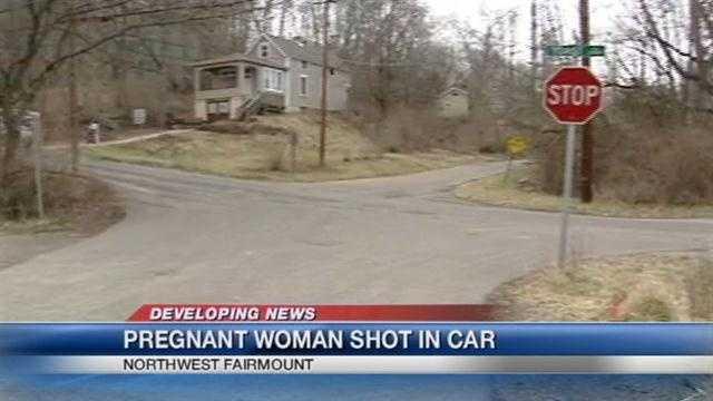 Pregnant woman shot