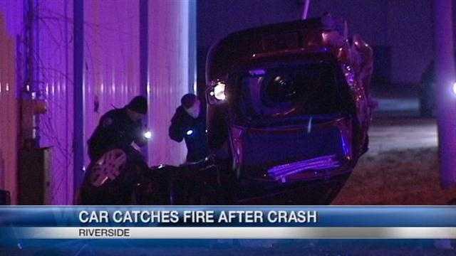 030213 Car flipped