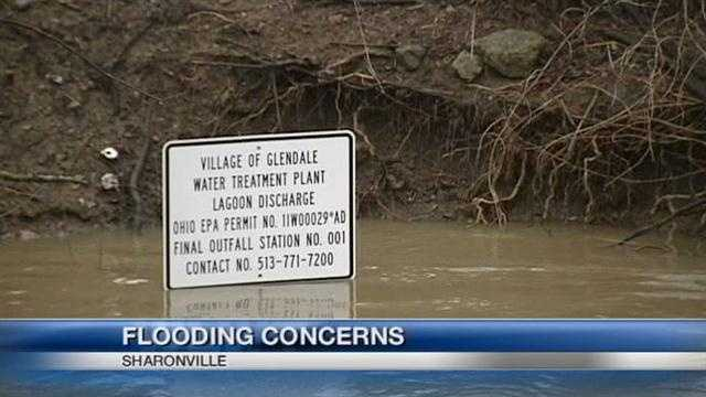 Residents and businesses in Glendale and Sharonville are keeping their eyes on the Mill Creek as rain falls and waters rise.