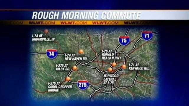 Multiple accidents tangle traffic during Wednesday commute