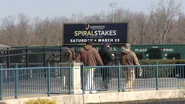 The Spiral Stakes at Turfway Park is one of the area's surest signs of spring, and this year's race has the backing of the new Horseshoe Casino.
