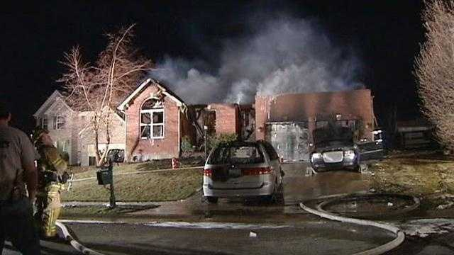 Neighboring homes catch fire in Hebron community