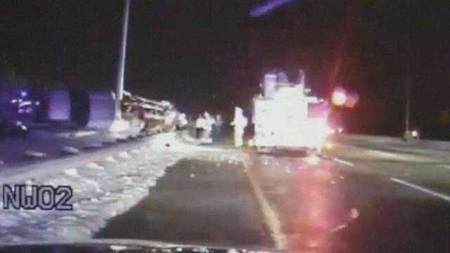 A Dayton fire captain is recovering after being struck at a crash scene early Tuesday.