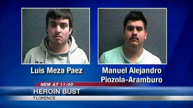 Two Florence men were arrested for trafficking heroin.