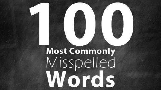 100 misspelled words