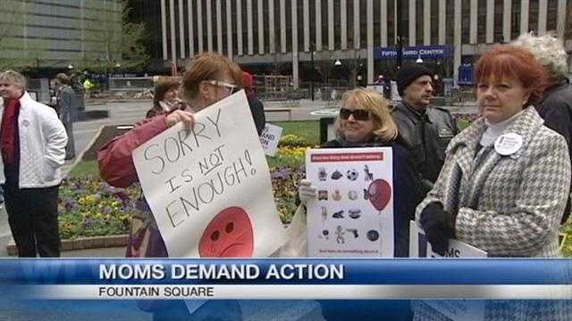 Moms rally for tougher gun laws