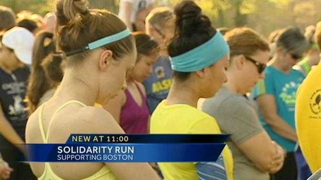 One week after the deadly bombings at the Boston Marathon, runners gathered around the Tri-state in a show of solidarity.