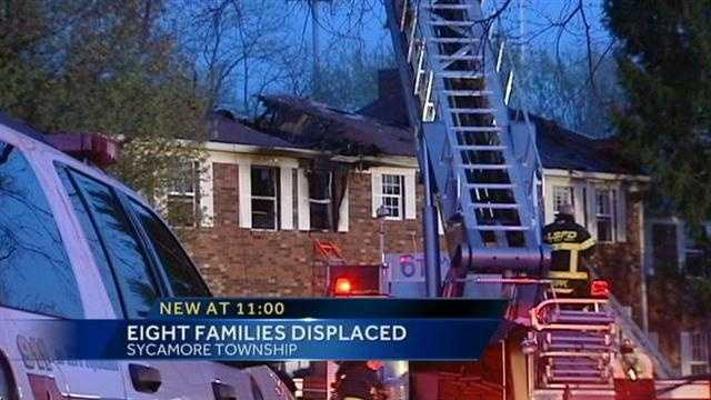Two-alarm fire burns apartment building in Sycamore Twp.