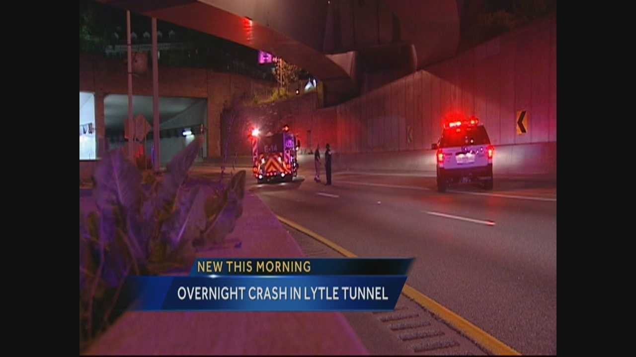 Truck crash closes Lytle Tunnel overnight