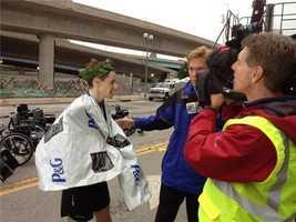 Justin Scheid wins men's half marathon