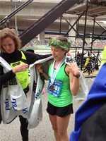Women's half marathon winer Leslie Kraus