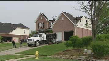 Investigators believe lightning may be to blame for a Liberty Township house fire. The home in the 6800 block of Stillington Drive is believed to be a total loss, but no injuries were reported.