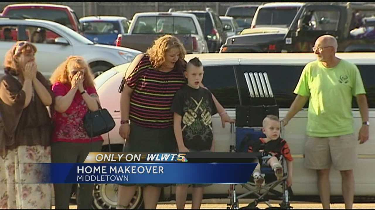 Volunteers reveal rehabbed home to Middletown family