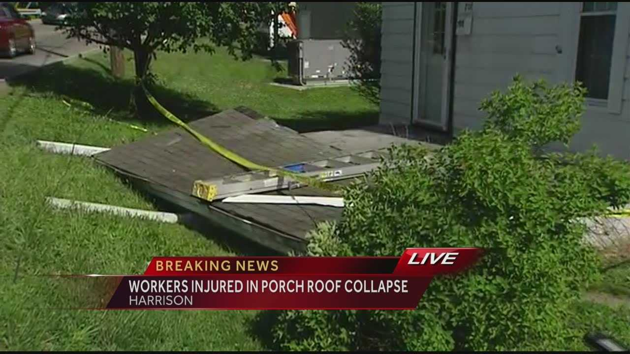 3 injured in Harrison roof collapse