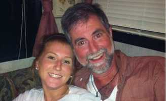 Jackie Congedo with her dad, John, in 2011.