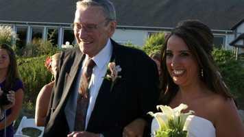 Karin Johnson with her dad, Edward, in 2009.