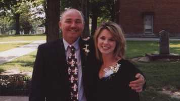 Sheree Paolello with her dad, Ron, in 2003.