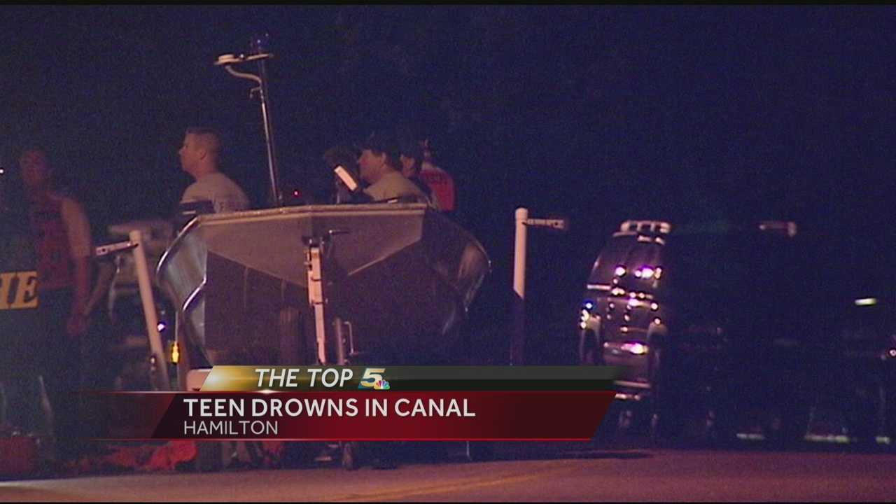 Crews recover teen's body from Hamilton canal