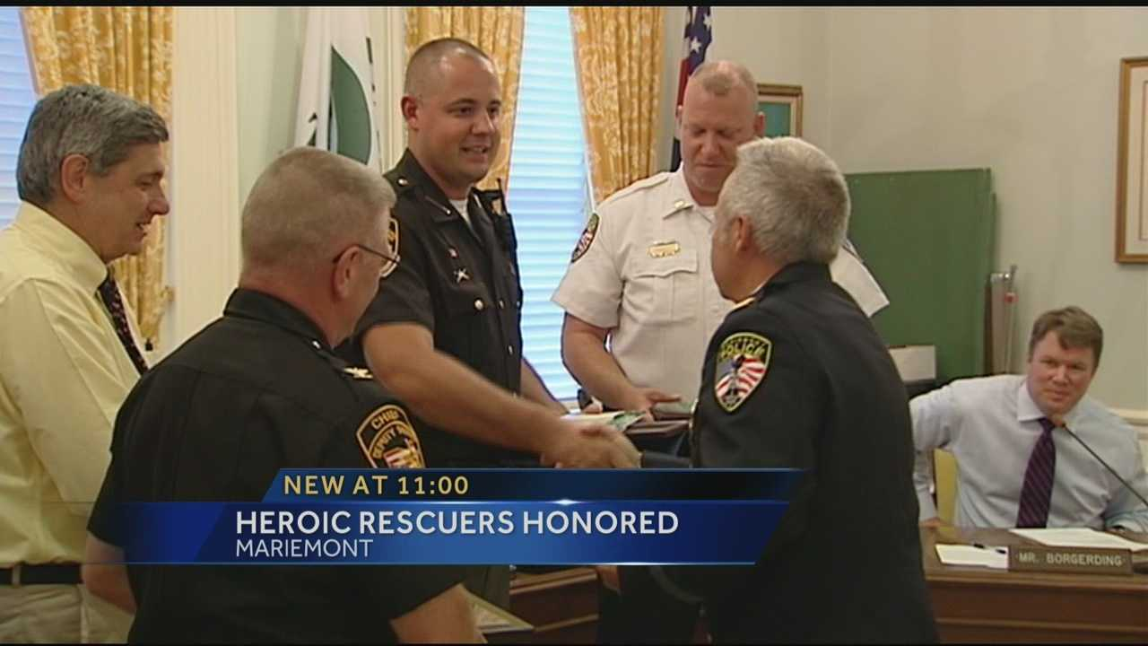 Men honored for heroic river rescue