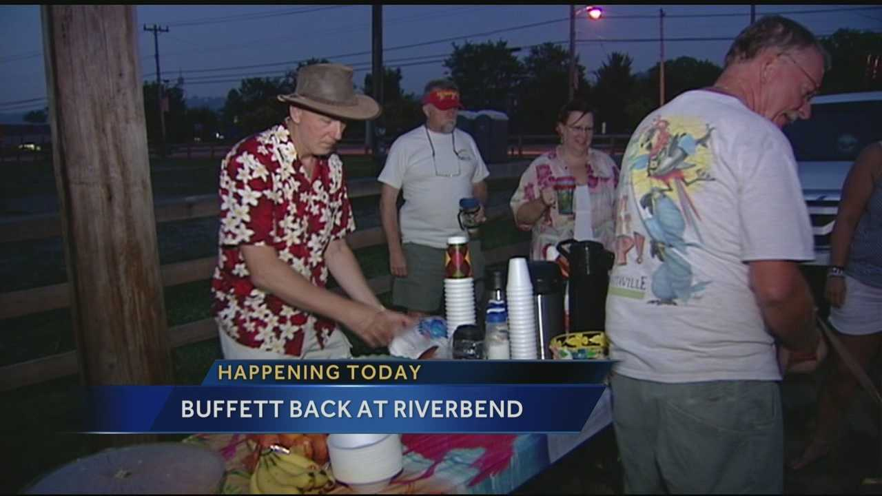 Parrotheads already at Riverbend for Jimmy Buffett's concert tonight